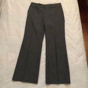 Wool blend women trousers grey pinstripes 4P